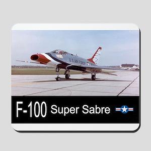 F-100 Super Sabre Fighter Mousepad