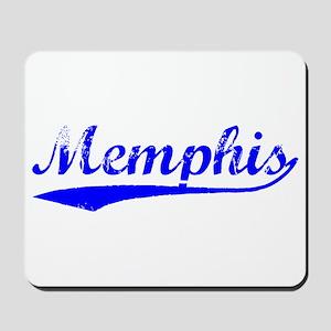 Vintage Memphis (Blue) Mousepad