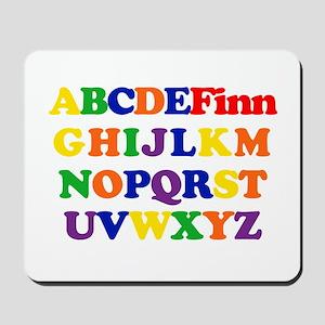 Finn - Alphabet Mousepad