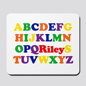 Riley - Alphabet Mousepad