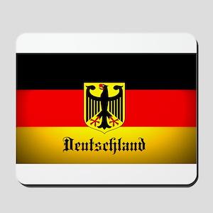 Deutschland Flag Coat of Arms Mousepad