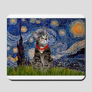 Starry Night / Tiger Cat Mousepad