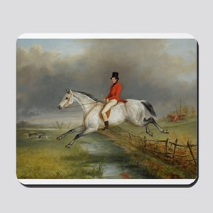 Clearing the Fence on the Hunt Mousepad