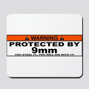 protected by 9mm Mousepad