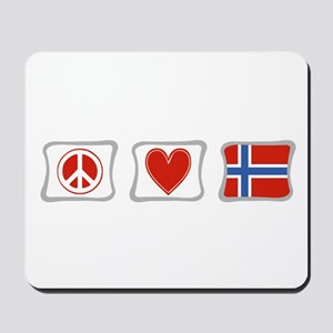 Peace, Love and Norway Mousepad