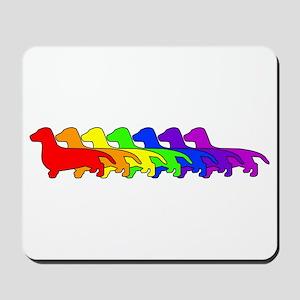 Rainbow Dachshund Mousepad