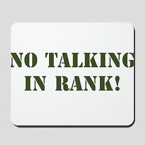 No Talking Mousepad