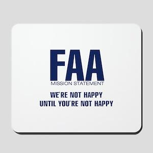 FAA - Mission Statement Mousepad