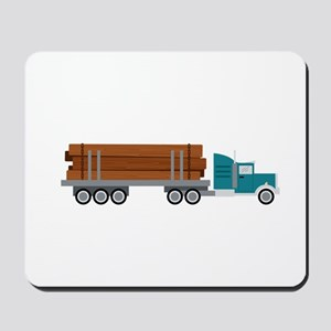 Semi Log Truck Mousepad
