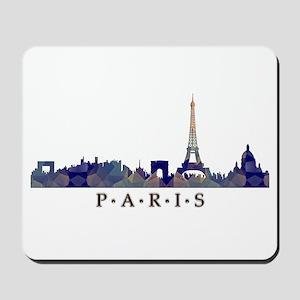 Mosaic Skyline of Paris France Mousepad