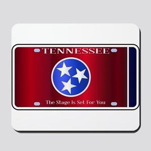 Tennessee State License Plate Flag Mousepad