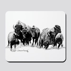 Buffalo Herd Mousepad