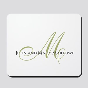 Names and Monogrammed Initial Mousepad