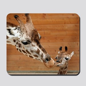 Kissing giraffes Mousepad
