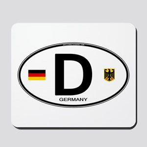Germany Euro Oval Mousepad