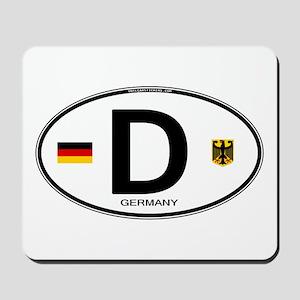 Germany Euro Oval Mousepad