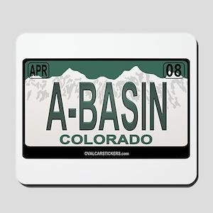 A-Basin Plate Mousepad