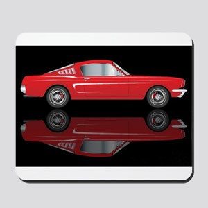 Very Fast Red Car Mousepad