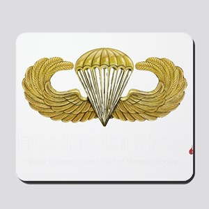 Gold Airborne Wings Mousepad