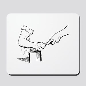 Champering against the grain Mousepad