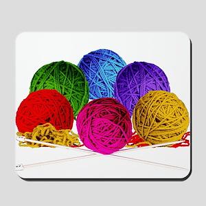 Great Balls of Bright Yarn! Mousepad