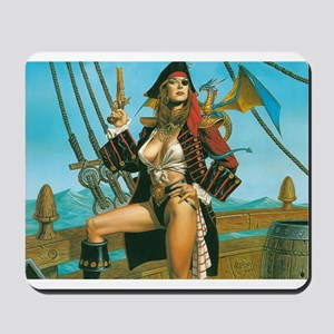 pin-up pirate Mousepad
