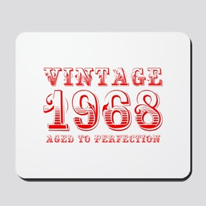 VINTAGE 1968 aged to perfection-red 400 Mousepad