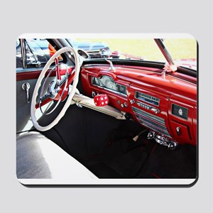 Classic car dashboard Mousepad