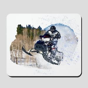 Airborne Snowmobile Mousepad