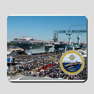 USS Gerald R. Ford CVN-78 Mousepad