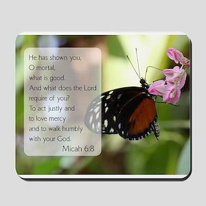 Bible Verse Micah 6:8 Mousepad