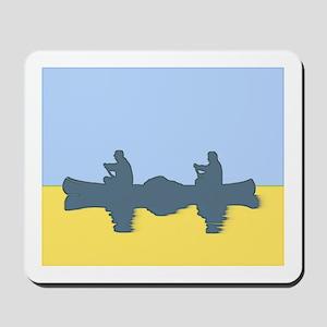 CHALK BLUE SKY CANOE Mousepad
