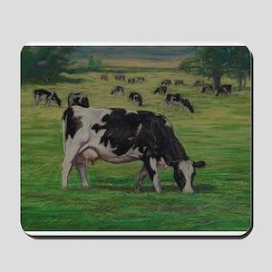 Holstein Milk Cow in Pasture Mousepad