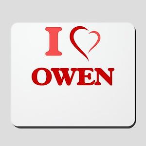 I Love Owen Mousepad