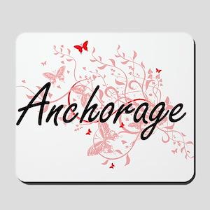 Anchorage Alaska City Artistic design wi Mousepad