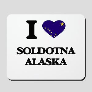 I love Soldotna Alaska Mousepad