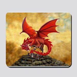 Red Dragon's Treasure Chest Mousepad