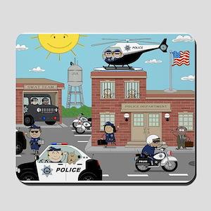 POLICE DEPARTMENT SCENE Mousepad