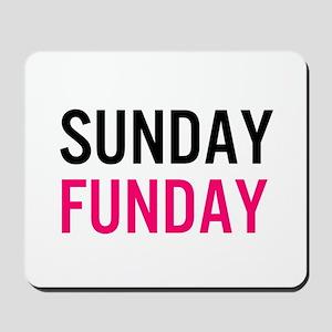 Sunday Funday (black / pink) Mousepad
