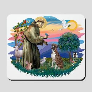 St Francis #2/ Boxer (nat ears) Mousepad