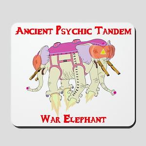 Ancient Psychic Tandem War Elephant Mousepad