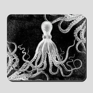 Vintage Octopus Dark Mousepad