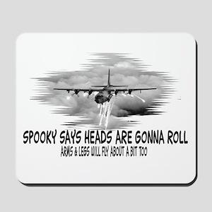 "C130 ""SPOOKY"" AIRFORCE HUMOR MOUSEPAD"