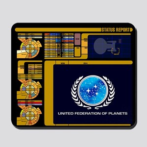 Star Trek LCARS Status Report Mousepad