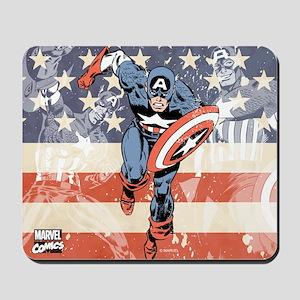 Patriotic Captain America Mousepad