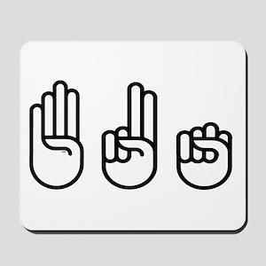 420 fingers Mousepad