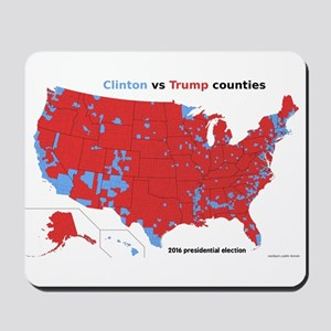 Trump vs Clinton Map Mousepad