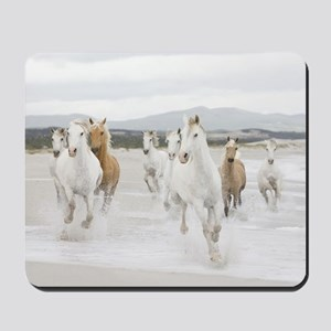 Horses Running On The Beach Mousepad