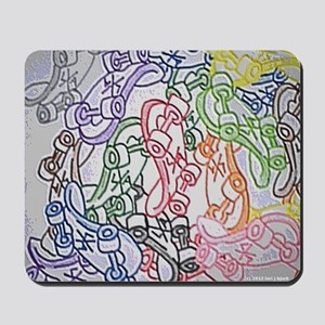 LAX skateboards by bjork all over mens t Mousepad
