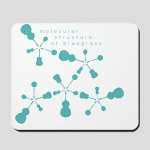 molecular structure of bluegrass transpa Mousepad